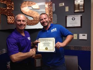 Michael Goff with RSI Campus President, Stephen Malutich.