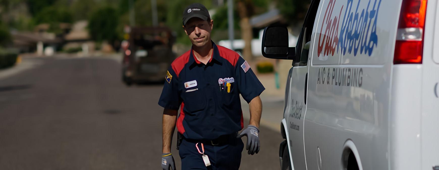 hvac technician service call