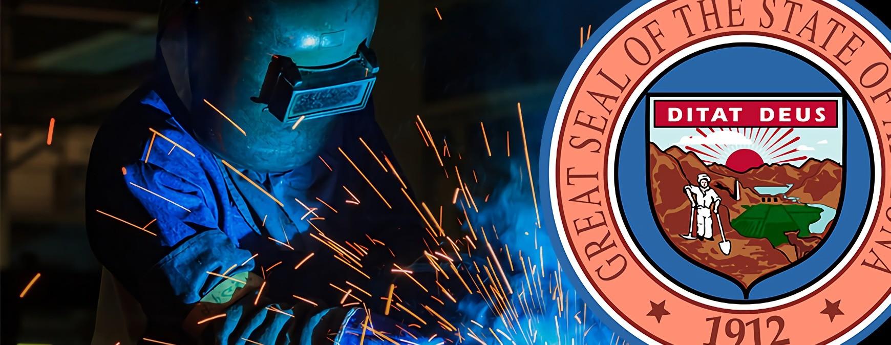 welder and arizona state seal