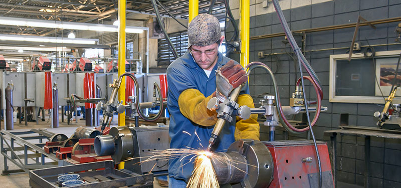 welding student training