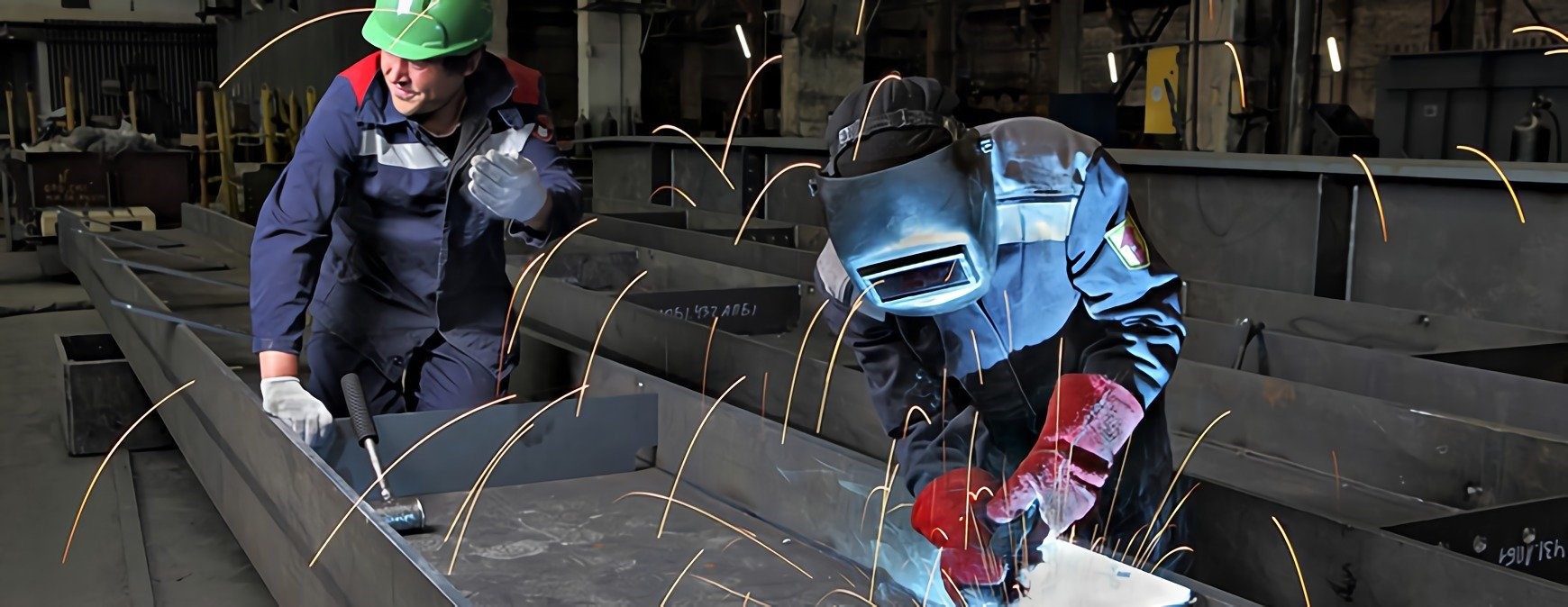 welding in a factory