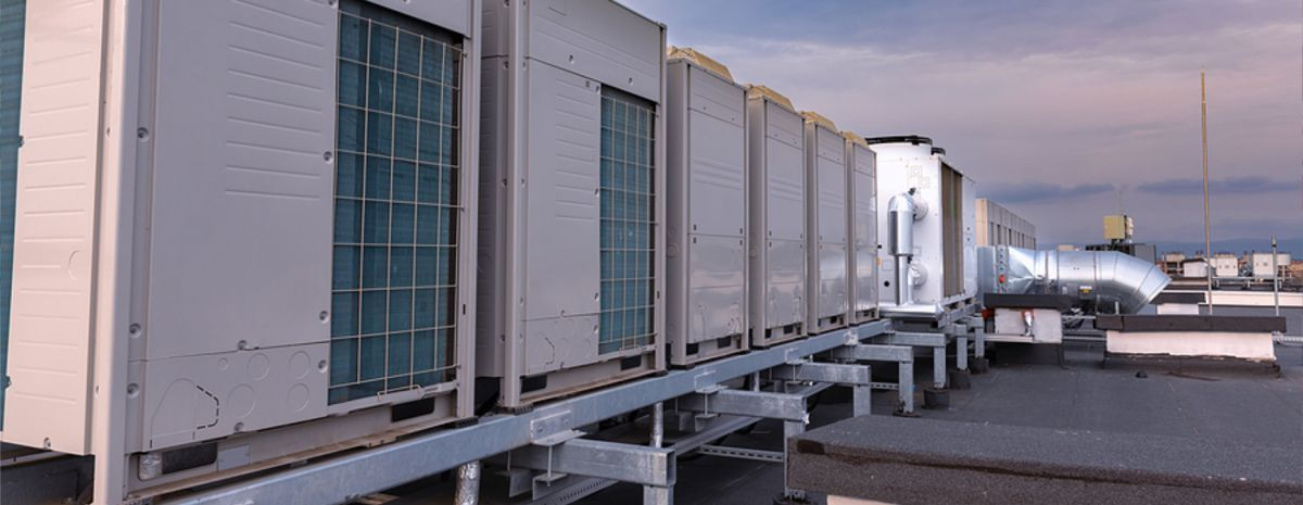 commercial refrigeration on industrial building