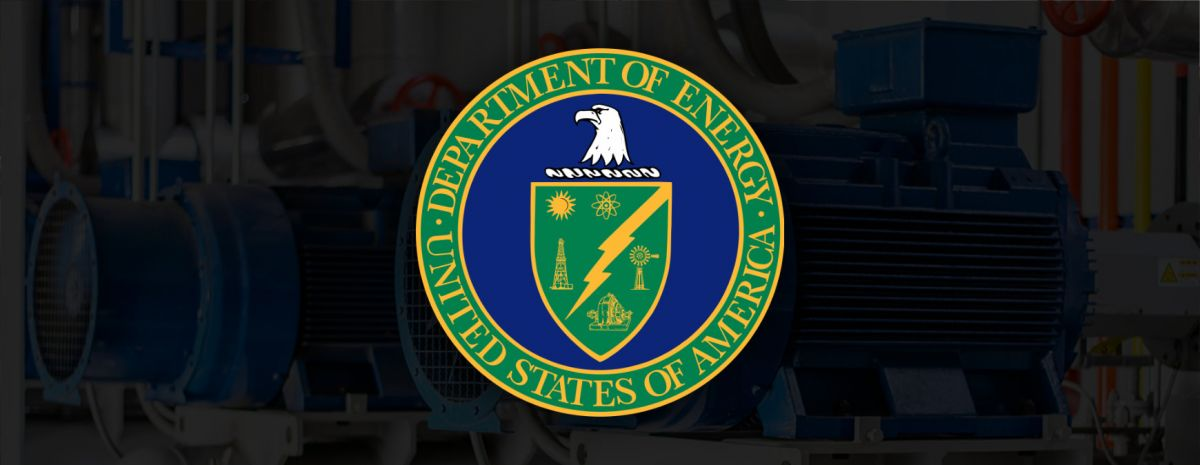 department of energy logo with refrigeration compressors