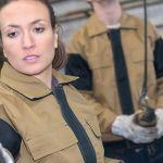 female welder