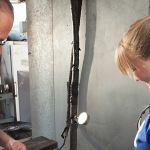 female working in hvac