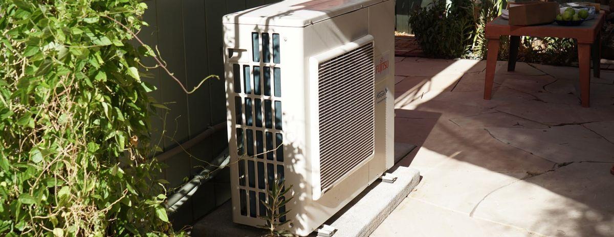 heat pump outside house