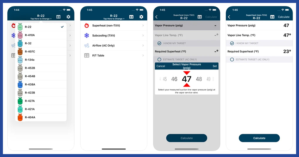 hvac check and charge app