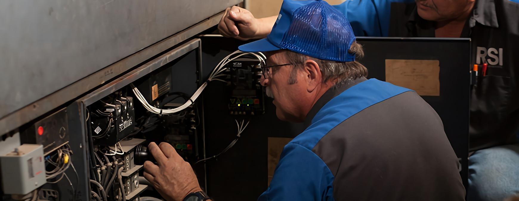 hvac specialist working on coolant