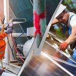 hvac technician and solar panel installer
