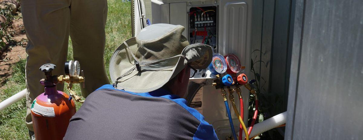 inside a heat pump