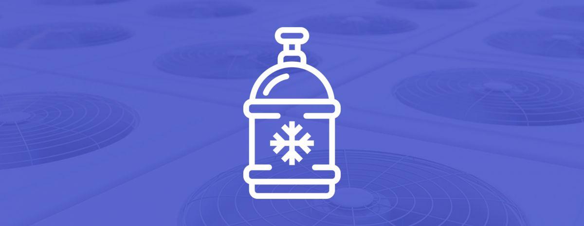 refrigerant icon over hvac system