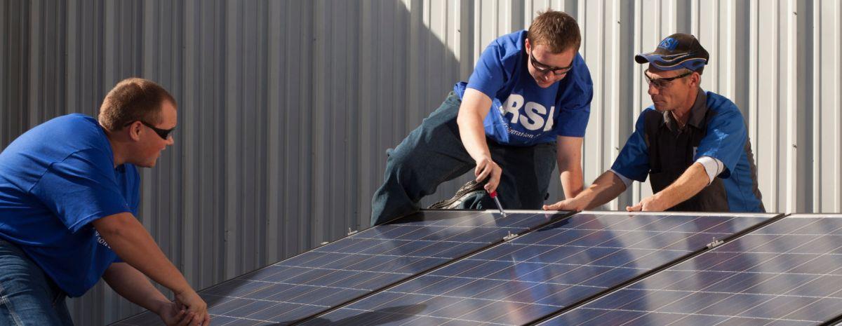solar panel installation class