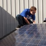 solar panel installation training session