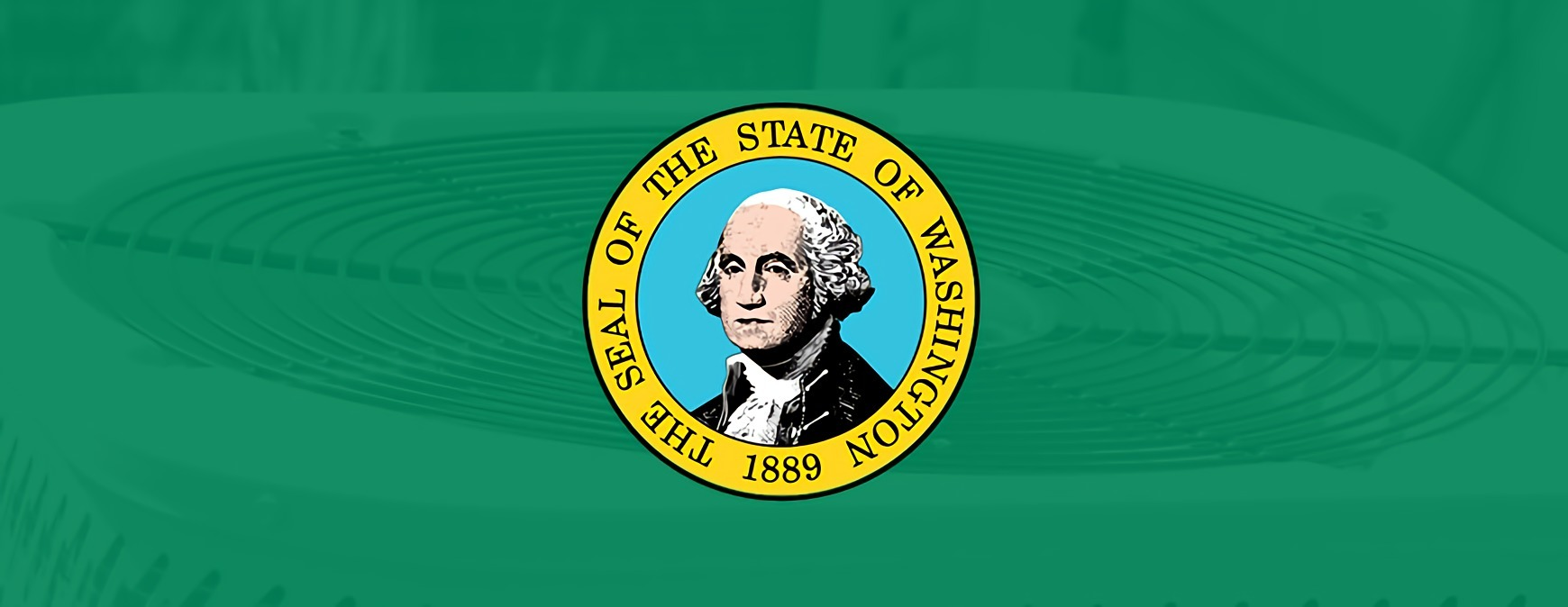 washington state flag in from of ac